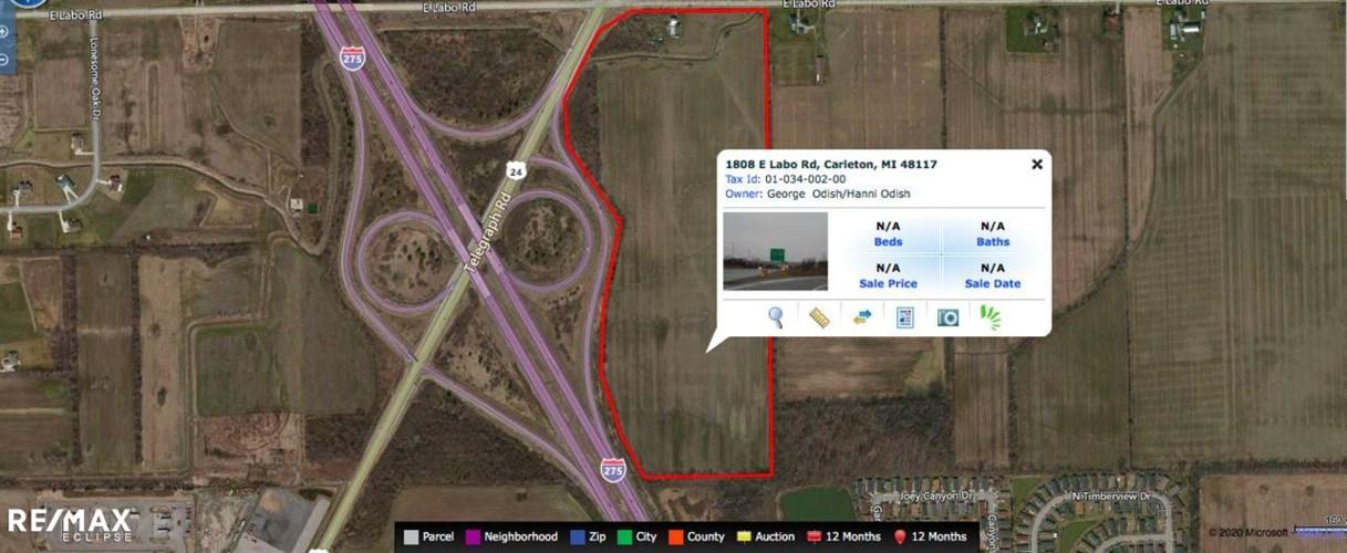 0 TELEGRAPH & I-275, Carleton, MI 48117