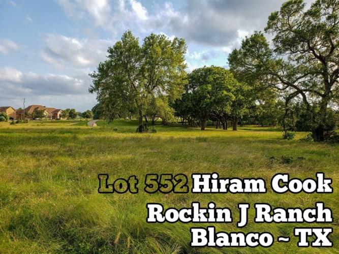 Lot 552 Hiram Cook, Blanco, TX 78606