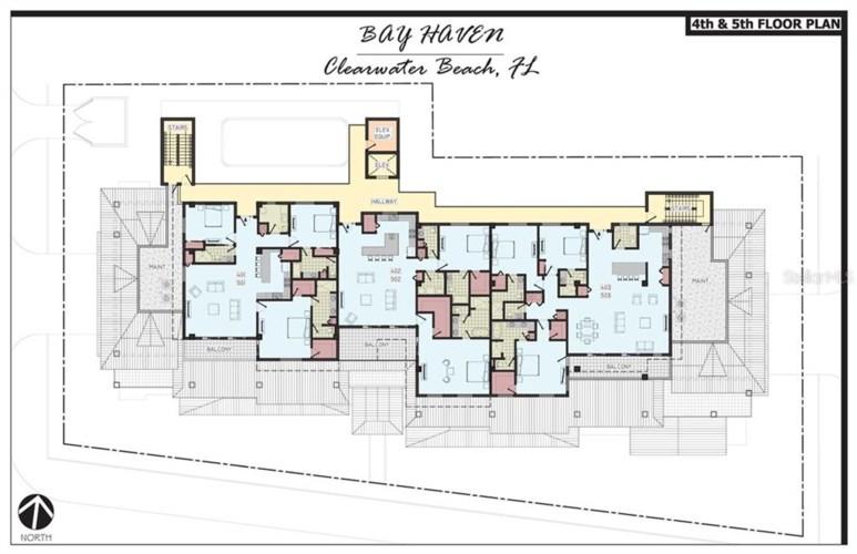 64 BAY ESPLANADE  #501, CLEARWATER, FL 33767